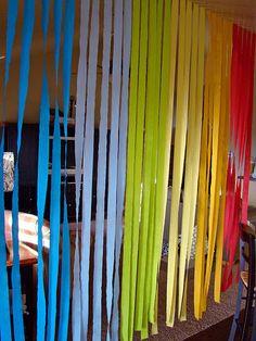 Crepe Paper Rainbow.