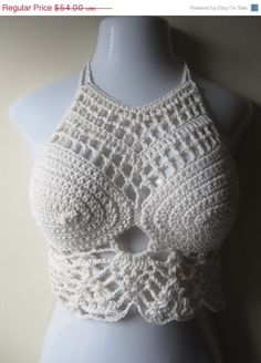 Crochet Summer  halter top, festival,boho chic, beach cover up, gypsy top, cotton