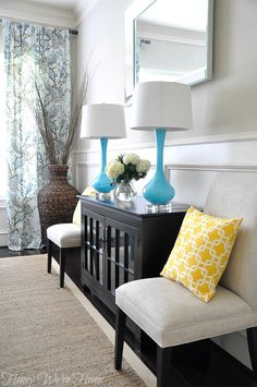 Honey We're Home: Dining Room Pillows (Yellow or Brown?)
