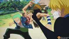 Surviving a hit from both Sanji and Zoro, Usopp is a true warrior of the sea!