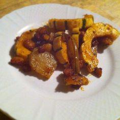 Sweet Chili Delicata Squash with Pears