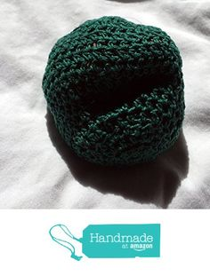 Solid Green Hand Crocheted Footbag 8x7 Inch from Southern Women Crafts…