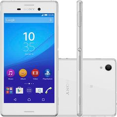 (Shoptime) Smartphone Sony Xperia M4 Aqua Dual Desbloqueado Android 5.0 Tela 5 ´ Memória Interna 16GB Câmera de 13MP Branco - de R$ 1834…