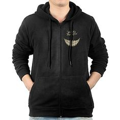 Mens We Are All Made Here Wonderland ZipUp Hoodie Sweatshirt >>> You can get more details by clicking on the image.(This is an Amazon affiliate link and I receive a commission for the sales)