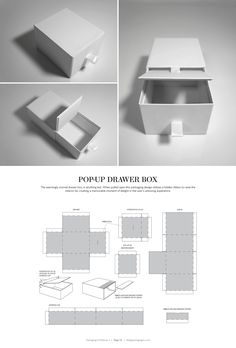 Pop-Up Drawer Box – structural packaging design dielines