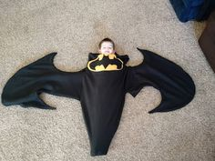 Batman Blanket  FREE sewing tutorial using our free Shark/Mermaid tail pattern!