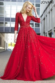 Red A-Line Dress 21466 - Pageant Dresses: