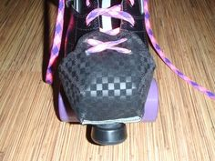 Finished toe guard on my skate Retro Roller Skates, Quad Roller Skates, Roller Rink, Roller Disco, Roller Derby, Roller Skating, Skate 3, New Skate, Skate Style