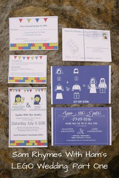 LEGO Wedding Invitations