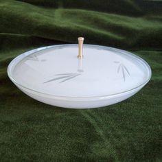 Chance glass cut pearl powder bowl