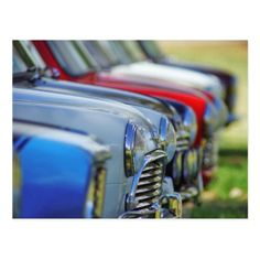 Vintage mini cooper cars automobile postcard - postcard post card postcards unique diy cyo customize personalize