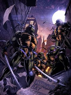 BROTHERTEDD.COM Teenage Ninja Turtles, Ninja Turtles Art, Tmnt, Comic Books Art, Comic Art, Bd Comics, Image Comics, Graffiti, Arte Pop
