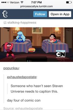 Yeah seriously people who have never watched this show tell me what is going on