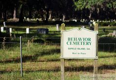 Behavior Cemetery on Sapelo Island, Georgia. - Don Kennedy Photography.