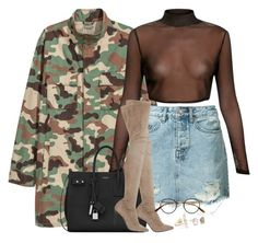 """""""Are you down?   III   XXIV   XVII"""" by kahla-robyn ❤ liked on Polyvore featuring Ksubi, Yves Saint Laurent, Strategia, Garrett Leight and Melissa Joy Manning"""