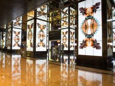 The Cosmopolitan of Las Vegas has eight large floor-to ceiling digital signage video columns that use photography and film to tell a story.