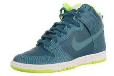 235f2f8d501 Nike Women s Dunk Hi Skinny Print Shoes Size 6 Dark Sea Mineral Teal  543242-300. Tênis ...
