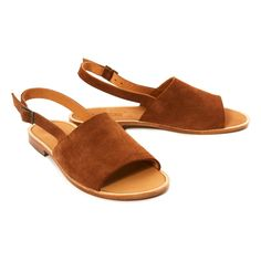 Bambi Leather Flat Sandals-product