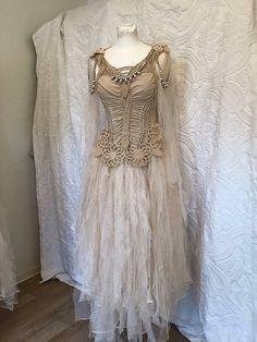Boho bruiloft jurk macrame bruids toga macrame strand
