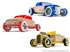Hot Rod wooden cars, $45 | Best Gifts for Kids – Parenting.com