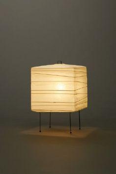 Akari Light Sculpture, STAND Series (floor & table), Model No. Ozeki Lantern Co. Isamu Noguchi, Paper Lanterns, Lighting Design, Floor Lamp, Living Spaces, Table Lamp, Flooring, Lights, Sculpture Stand