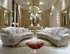 Hollywood Luxe Italian Designer White Leather Sofa More Luxury Hollywood Interior Design Inspirations To Pin, Share & Inspire @ InStyle-Decor.com Beverly Hills (Use Our Red Pinterest Speed Pin Button Top Of Each Page Happy Pinning)