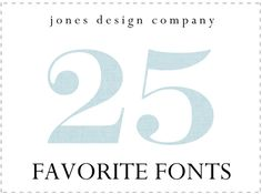 25 favorite fonts-jones design compagny