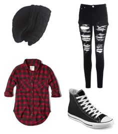 """genderfluid male outfit"" by aliciabrubach ❤ liked on Polyvore featuring Glamorous, Abercrombie & Fitch, Converse and Laundromat"
