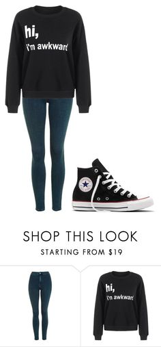 """Untitled #262"" by cruciangyul on Polyvore featuring Topshop and Converse"