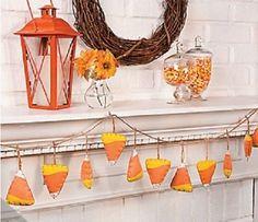 Candy Corn Garland Halloween Holiday & Seasonal « Delay Gifts