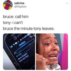 Imagine Steve seeing the caller ID on his phone and it says Tony Stark. He hesitates to answer it but when he does it's not Tony, and Steve is both relieved and sad about it. Marvel Jokes, Avengers Memes, Marvel Funny, Marvel Dc Comics, Marvel Avengers, Infinity War, Marvel Cinematic Universe, Marvel Universe, Dc Movies