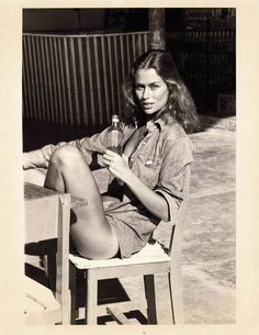 Model and actress Lauren Hutton (b. 1943)