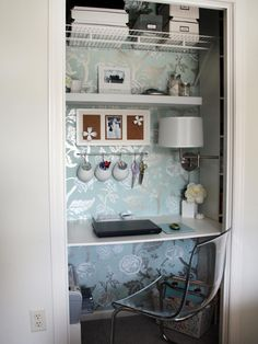 18 Small Closet Makeovers | Easy Ideas for Organizing and Cleaning Your Home | HGTV >> http://www.hgtv.com/design/decorating/clean-and-organize/maximize-small-spaces-8-revamps-for-your-closet-pictures?soc=pinterest