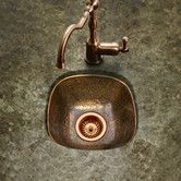The Houzer Schnapps undermount bar sink is a hand hammered copper sink that adds character to any wet bar. This undermount bar sink fits a 16 sink base. The hammered copper sink has no protective coating creating a unique look that changes over time Copper Bar, Hammered Copper, Antique Copper, Copper Sinks, Farmhouse Sink Kitchen, Copper Kitchen, Kitchen Sinks, Kitchen Islands, Lip Bars