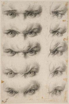 "inneroptics: "" Studies of human eyes Charles Le Brun """