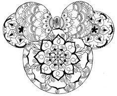 Disney Mandala Coloring Pages Disney Mandala Minnie Mouse Mandala Art In 2020 Mickey Mouse Coloring Pages, Love Coloring Pages, Disney Coloring Pages, Mandala Coloring Pages, Adult Coloring Pages, Coloring Books, Frozen Coloring, Disney Kunst, Disney Art