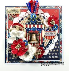 4th Of July Fireworks, Fourth Of July, The Godfather Game, Greys Anatomy Memes, Scrapbooking, United We Stand, Patriotic Crafts, Junk Art, How To Make Ribbon