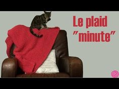 """[vidéo] Le plaid """"minute"""" en point mousse oblique"""
