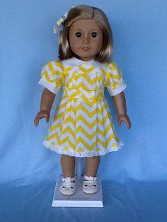 18 inch doll dress.  Fits American Girl Dolls. by ASewSewShop