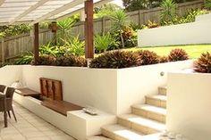 http://mylandscapingbrisbane.com/portfolio/block-rendered-retaining-walls-brisbane/ Rendered retaining walls Brisbane. Center tier
