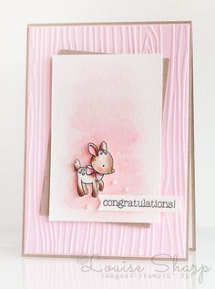 Stampin' Up! | INKspired Blog Hop - Made With Love Little Dear | By Louise Sharp | Deer Card | Baby Girl