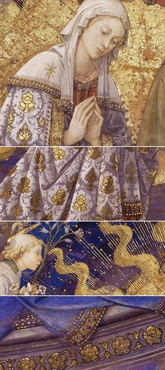Coronation of the Virgin (details) from the Scenes of the Life of the Virgin Mary by Filippo Lippi (1406-1469)