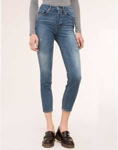 HIGH WAIST SLIM FIT JEANS - JEANS - DENIM - PULL&BEAR Indonesia