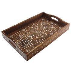Indian Home Accent: Handmade Inlay Tray: Kitchen images ideas from Home Inteior Ideas India Home Decor, Birch Ply, Tea Tray, Kitchen Images, Home Accents, Home Kitchens, Plates, Tableware, Handmade