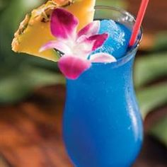 "Blue Hawaiian Cocktail | ""This is one of my all-time favorite mixed drinks!"" – Kim"