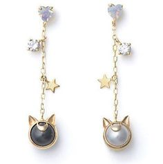 Jewelry Luna and Artemis earrings :) - Tap the pin now to grab yourself some BAE Cosplay leggings and shirts! From super hero fitness leggings, super hero fitness shirts, and so much more that wil make you say YASSS! Sailor Moons, Cute Jewelry, Jewelry Accessories, Silver Jewelry, Amber Jewelry, Cheap Jewelry, Fashion Accessories, Fancy Jewellery, Dog Jewelry