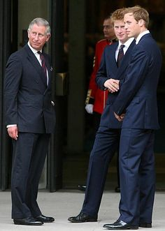 Prince Charles, Prince Harry and Prince William.