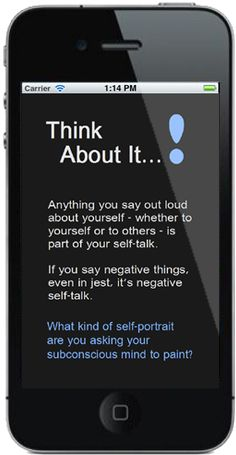 Talk to yourself, as you would your best friend. Negative thinking has more power then we'd like to believe.