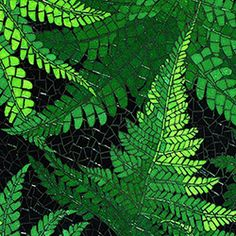 detail of a fern mosaic by Joy Holden