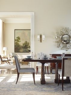 Dining room designed by Thomas Pheasant, Baker furniture. Classic Elegance Beautiful Design